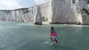 Guy Cribb flying high at the Jurassic Coast