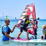 Windsurfing z dziećmi za granicą