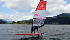 Windsurfing speed w Rewie