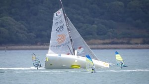 IMOCA vs Windsurfing