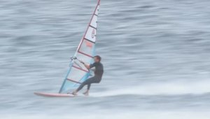 High Wind Slalom Action in Tenerife