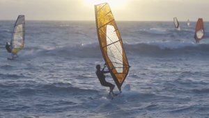 Windsurfing beyond the Perth sunset