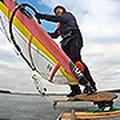 Iceboardowy slalom Adama Mroza