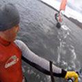 Zimowy slalom na Jeziorze Powidzkim